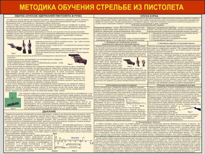 33. Методика обучения стрельбы из пистолета