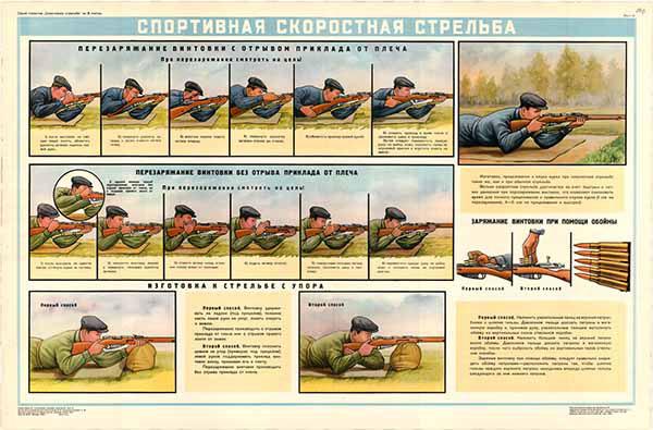 0152. Военный ретро плакат: Спортивная скоростная стрельба