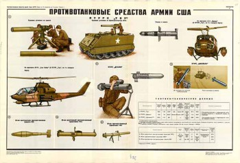 0255. Военный ретро плакат: Противотанковые средства армии США