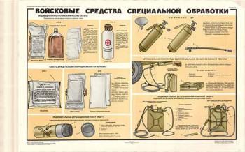 0292. Военный ретро плакат: Войсковые средства специальной обработки