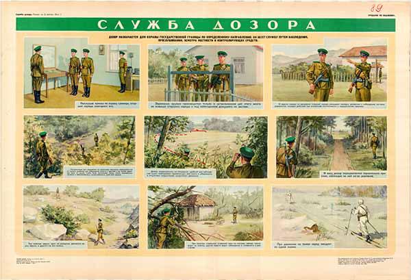 0812. Военный ретро плакат: Служба дозора 2