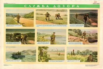 0813. Военный ретро плакат: Служба дозора 3