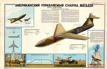 """0369. Военный ретро плакат: Американский управляемый снаряд """"Матадор"""""""