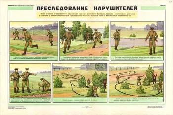 0432. Военный ретро плакат: Преследование нарушителей