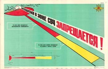 1533. Советский плакат: Находиться в зоне СВЧ запрещается!